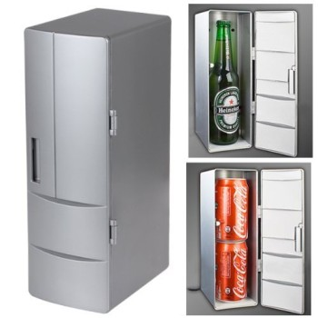 USB Beer Fridge With Heating With Beer Bottle