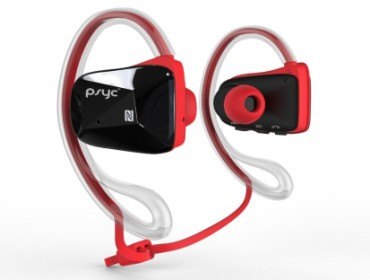 Earphones In Red And Black Exterior
