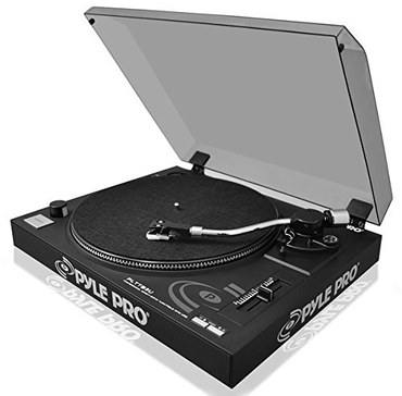 Pre Amp USB Belt Drive Turntable In All Black