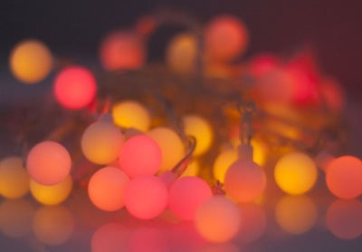 40 LED Sunset Novelty Fairy Lights in Red, Bright Orange