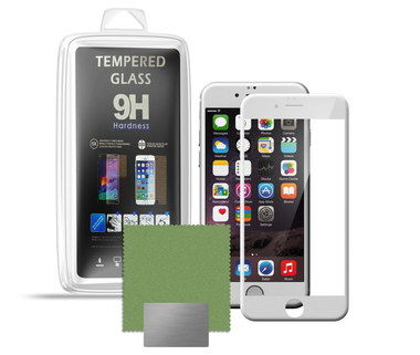 Crystal Clear Qubed Mobile Phone Screen Cover On Phone