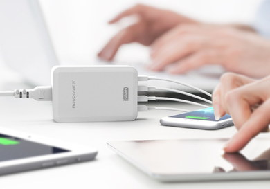 RAVPower iPad USB Port Adapter Charger Linked To Gadget