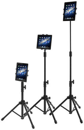 The Floor Style Tripod iPad Mini Mount In Black Finish