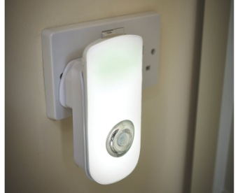 LED Motion Sensor Night Light Plug In Plugged In Wall