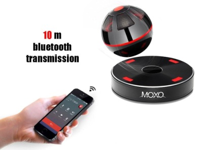 Rasse Portable Floating Bluetooth Speaker Orb With Smartphone