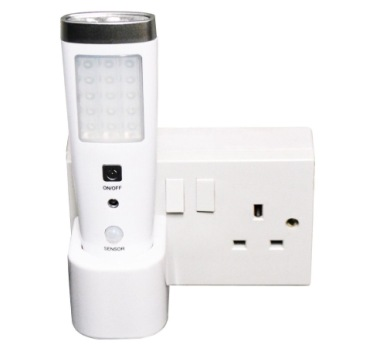 Re-Chargeable LED Night Sensor Light Plugged In Wall Outlet