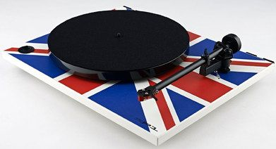 Speed Altering Belt Driven Turntable In Red And Blue