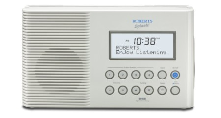 Shower Proof Radio In White With Clear Display