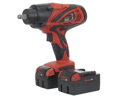 Battery Impact Wrench In Black And Red