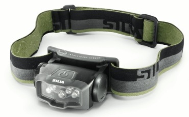 Head Torch With Black And Green Strap
