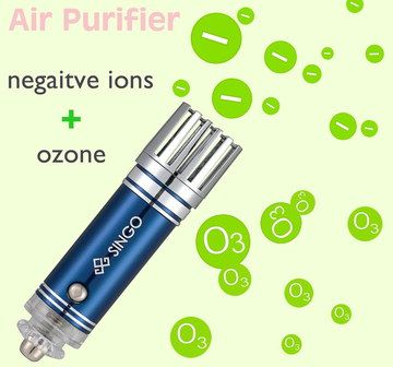Powerful Ionic Air Purifier For Vehicles In Blue Steel