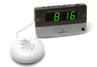 Alarm Clock With White Vibation Pad