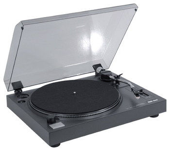 33, 45 RPM Belt Drive 3 Speed Turntable With Cover