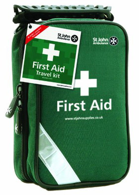 Vehicle First Aid Kit In Green And White