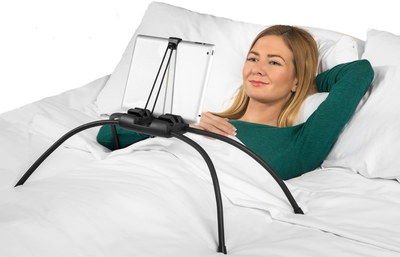 All Size Tablet Holder For Bed Or Couch With Black Legs