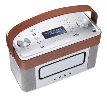 Bluetooth DAB Radio In Brushed Silver And Tan