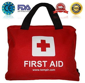 First Aid Kit For Cars In Red Bag
