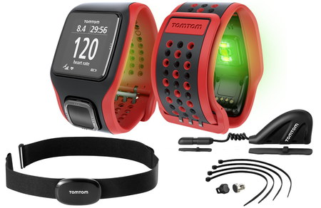 GPS Watch Altimeter With Bright Red Strap