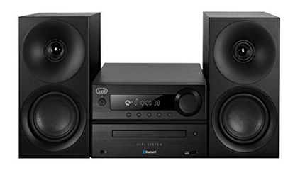 BT Wireless Hi-Fi Sound System In All Black Casing