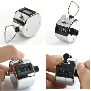 Manual Mechanical Counter Clicker In Polished Steel