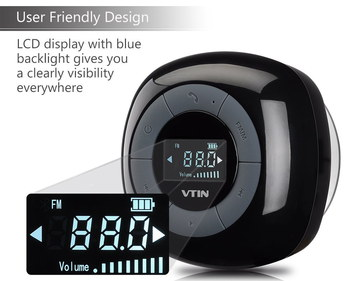 Water-Proof Bluetooth Shower Radio In Black
