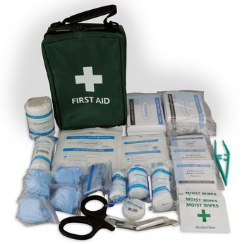 89 Piece Emergency Kit For Car With White Bandages