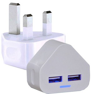 Visibee Dual 2AMP iPad Mini USB Adapter 3 Pin Style