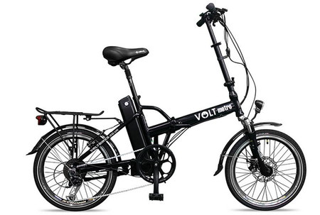 Electric Folding Bicycle In All Black Finish
