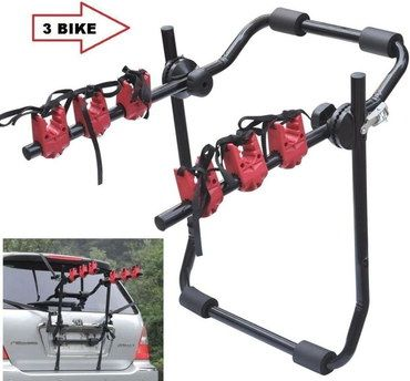 WNB 3 Cycle Bike Carrier For Car, Hatchback In Black Metal