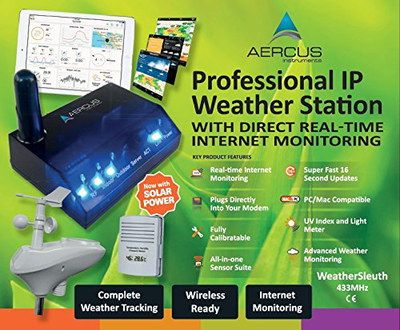 Wi-Fi Pro Weather Station With 3 Blue Lights