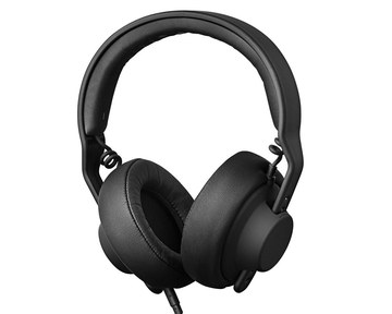 Tilted Studio Headphones For Mixing With Black Wire
