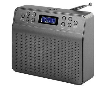 Cheap DAB Clock Radio With Grey Exterior