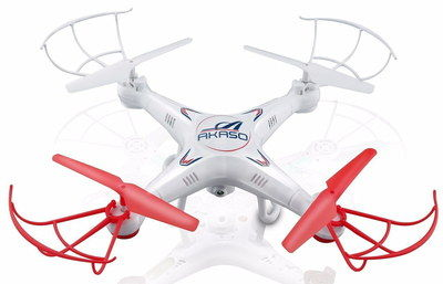 LED Small Drone With HD Camera In White And Red