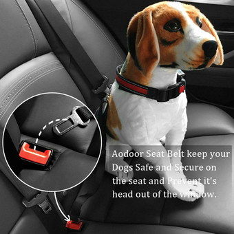 Pet Car Safe Seat Belt Restraint Showing Clip