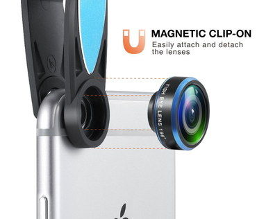 Optical Glass Camera Lens For Phone Snaps In Black And Blue