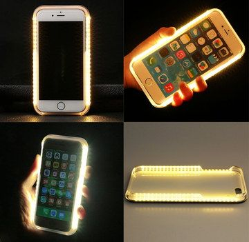 Apple iPhone 5S LED Case In Black Background