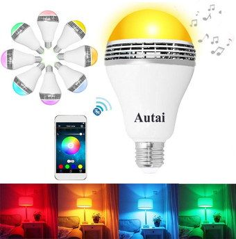 Wireless Smart LED Color Changing Bulb Screw Style