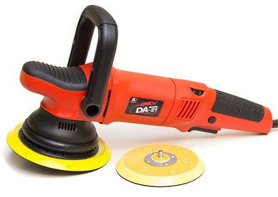 Dual Car Machine Polisher Tool In Bright Red