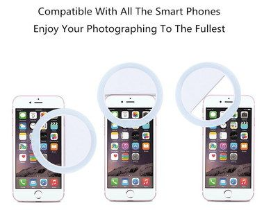 Ring Fill Selfie Light For All Smartphones On White Device
