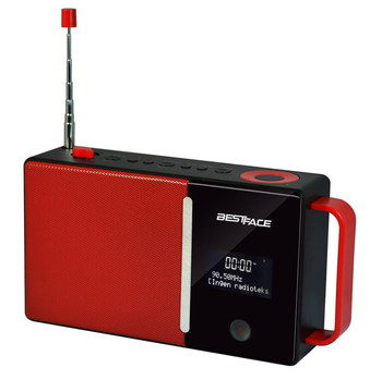 Good Value DAB Alarm Radio In Black And Red