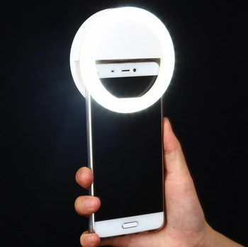 Sturdy Phone Selfie Ring Lighting In Man's Hand
