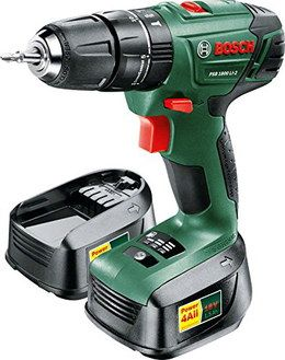 Soft Grip 18V Battery Hammer Drill In Black And Green