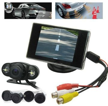 4 Elements Car Parking Sensor System With Coloured Cables