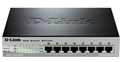 Advanced 8 Port Ethernet Switch Box In Black Finish