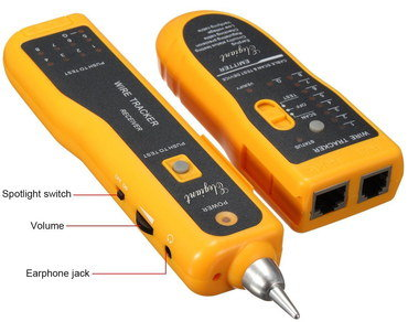 LAN RJ45 Cable Tester In Orange