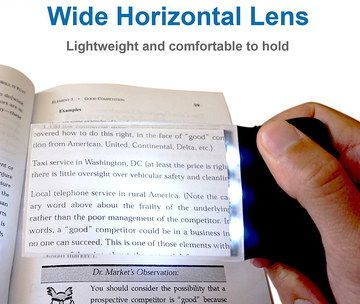 Magnifier With LED For Elderly With Black Grip