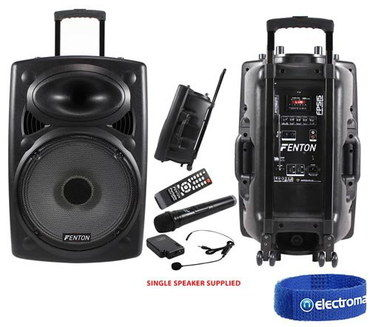 LED Lit Wireless PA System For Sale In Black