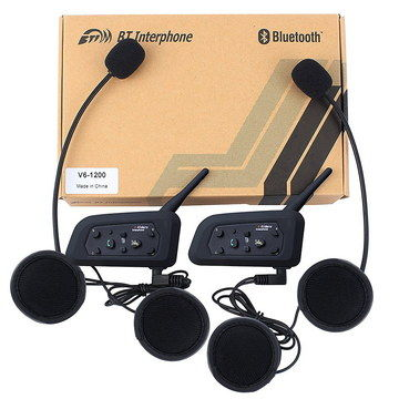 Multi-Pair Motorcycle Helmet Bluetooth Kit With Connectors