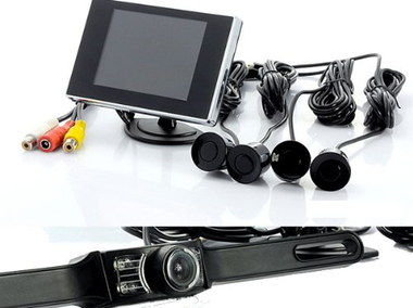 TFT Vehicle Parking Sensor Kit With Wired Components