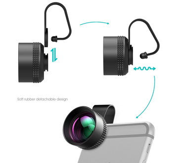 HD Glass Smartphone Camera Lens Kit With Rubber Back
